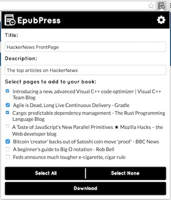 EpubPress - Read the web offline